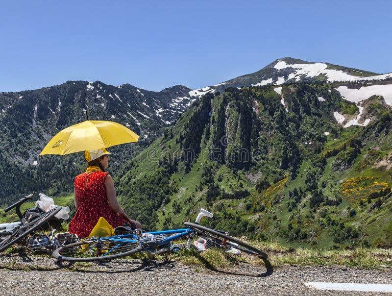 Fan de Tour de France de le photographie stock
