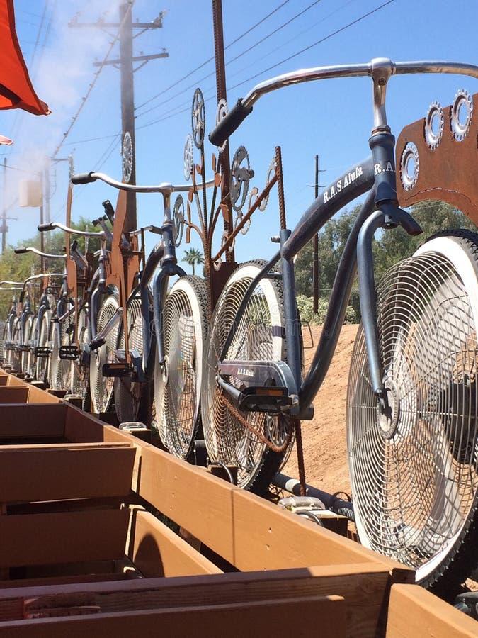 Fan della bicicletta fotografia stock