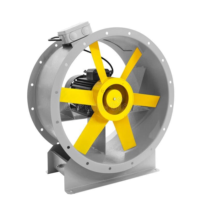 Fan della turbina di aria per ventilazione e condizionamento d'aria isolato su fondo bianco fotografia stock