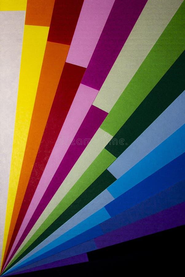 Fan di colore a partire da un angolo come fondo fotografie stock libere da diritti