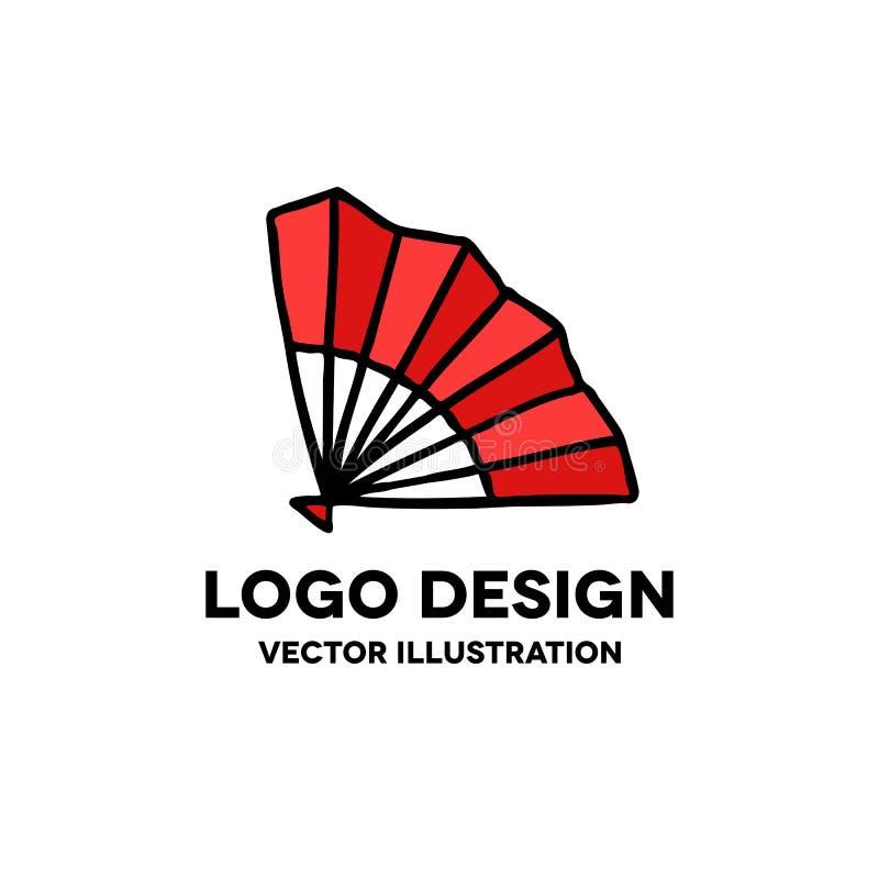 Fan doodle icon. Vector illustration stock illustration