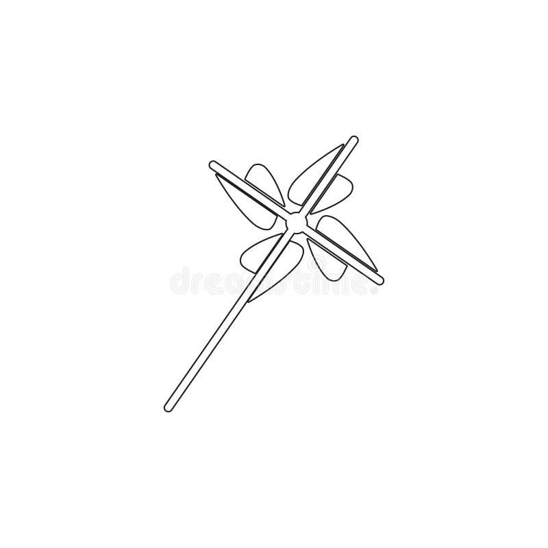 Fan, elica, icona del giocattolo Icona dell'elemento del giocattolo Icona premio di progettazione grafica di qualità Il bambino f royalty illustrazione gratis