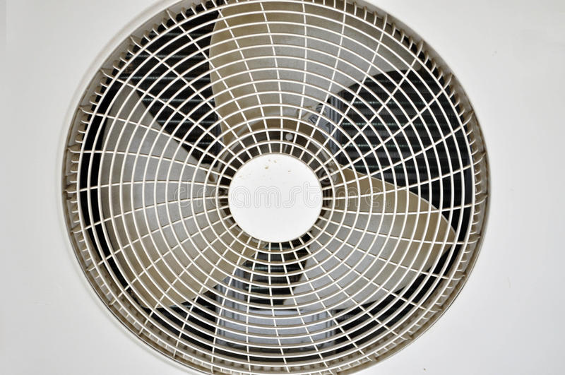 FAN EMOTEUR HOUSE CLIMATE. Closeup of a home air-conditioning fan motor which is the foundation of well-being and of summer comfort in the apartments royalty free stock photos