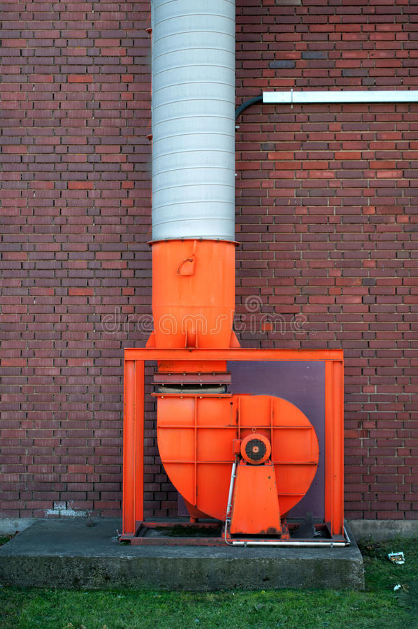 Fan equipment. Industrial fan on a concrete foundation royalty free stock images