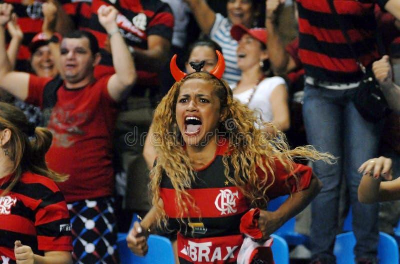 Fan Flamengo piłki nożnej drużyna obraz stock