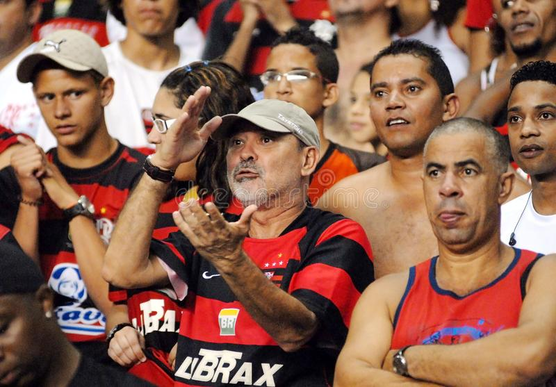 Fan Flamengo piłki nożnej drużyna zdjęcia royalty free