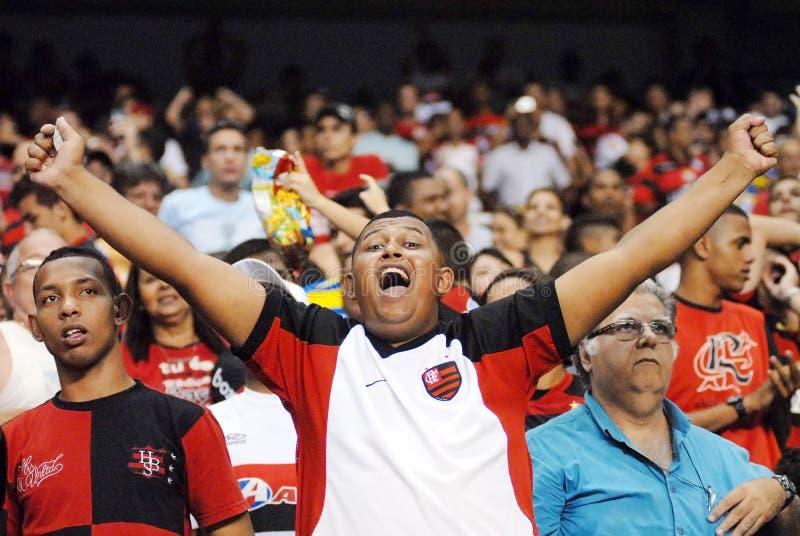 Fan Flamengo piłki nożnej drużyna obrazy royalty free
