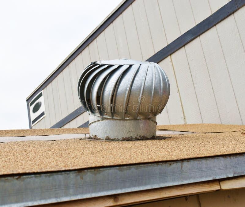 Fan industrial de la salida de aire para la instalación foto de archivo