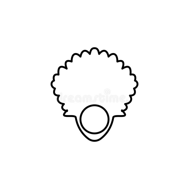 Fan, peacefulness outline icon. Signs and symbols can be used for web, logo, mobile app, UI, UX stock illustration
