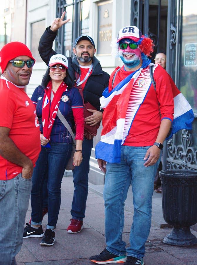 Fan piłki nożnej Costa Rica przy 2018 FIFA pucharem świata w Rosja obrazy stock