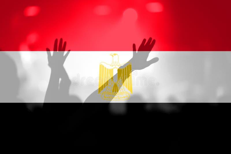Fan piłki nożnej z mieszać Egipt flaga zdjęcia royalty free
