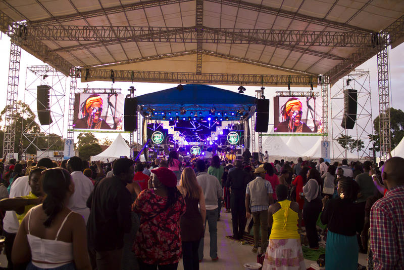 Fan a Safaricom Jazz Festival fotografia stock
