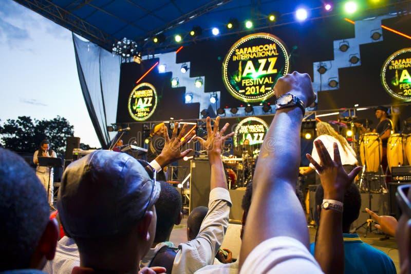 Fan a Safaricom Jazz Festival immagine stock libera da diritti