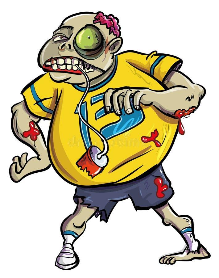 Fan sangrienta grotesca del zombi