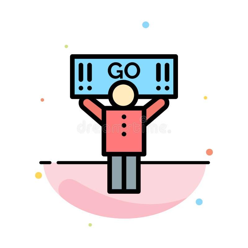 Fan, sport, supporto, modello piano dell'icona di colore dell'estratto del sostenitore royalty illustrazione gratis