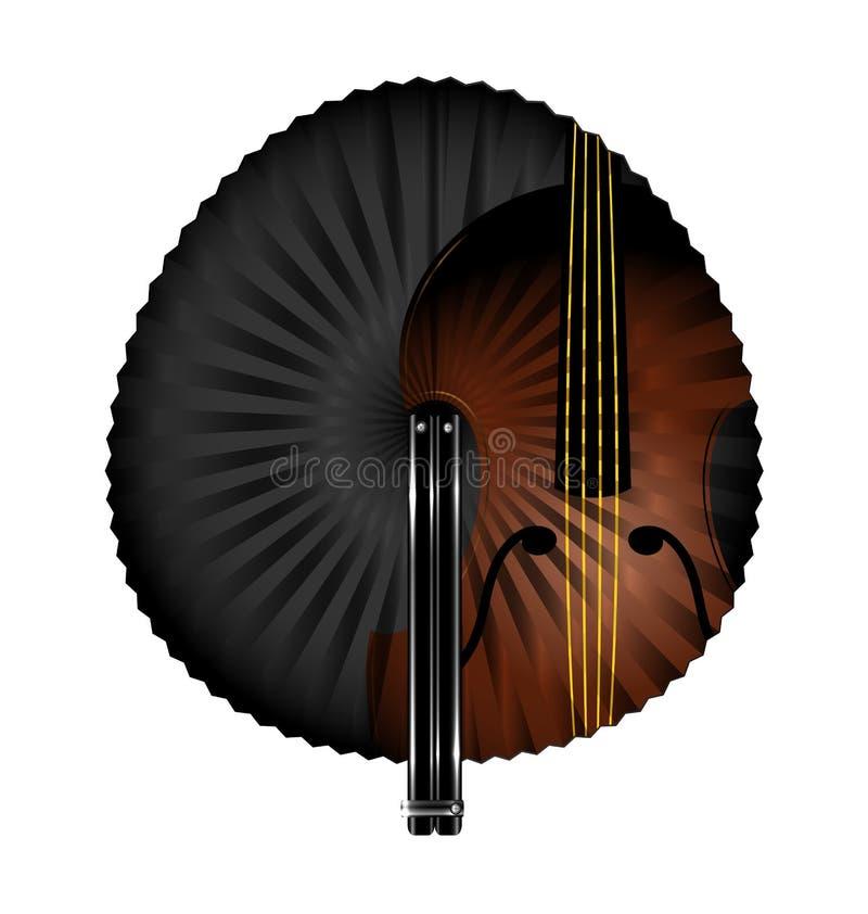 Fan y música ilustración del vector