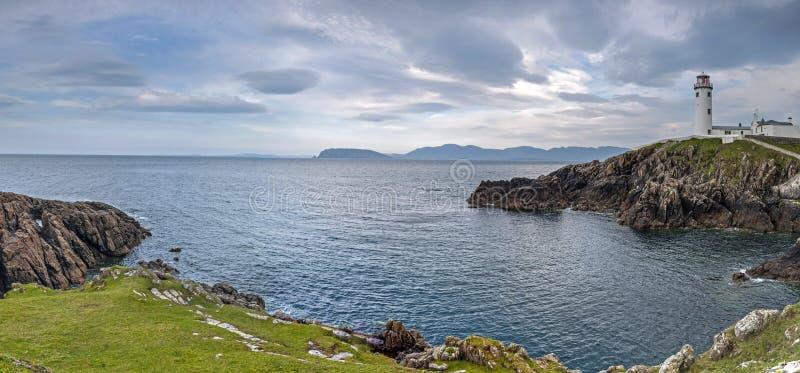 Fanad头,县Donegal,爱尔兰全景  库存照片