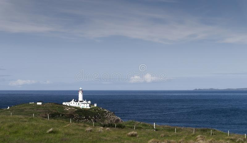 Fanad Head Lighthouse. Has been voted one of the most beautiful lighthouses in the world stock photography