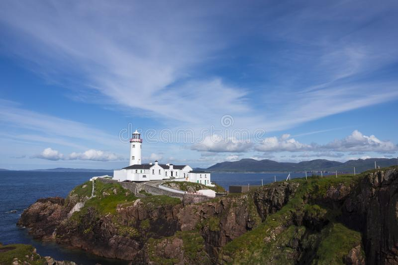 Fanad Head Lighthouse. Has been voted one of the most beautiful lighthouses in the world stock image