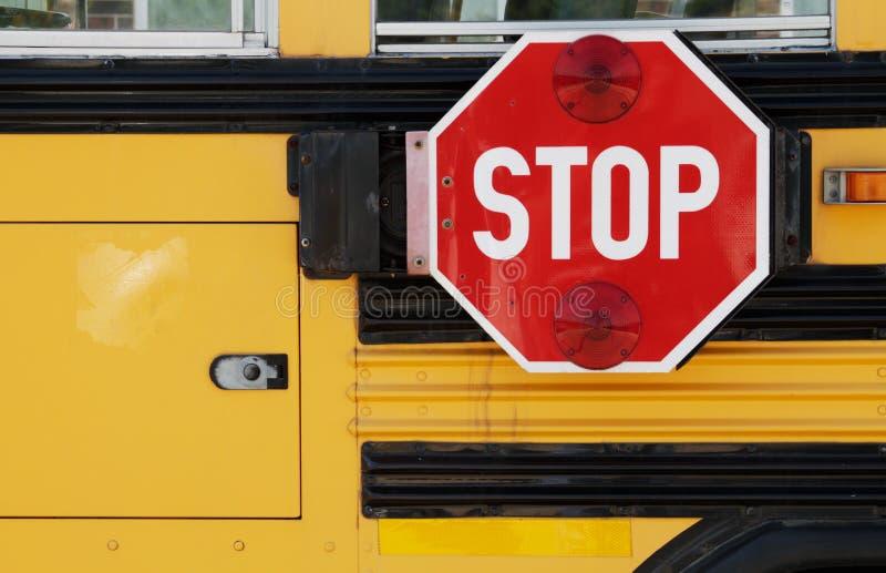Fanale di arresto dello scuolabus immagini stock libere da diritti