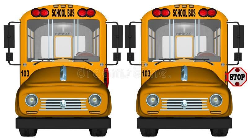 Fanale di arresto giallo dello scuolabus illustrazione vettoriale