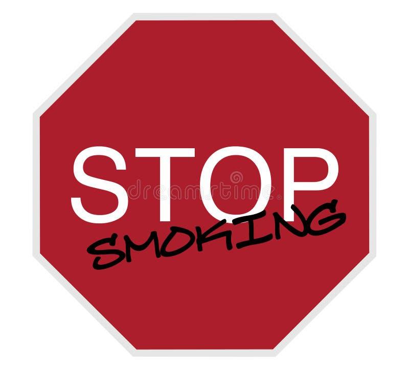 Fanale di arresto - smetta di fumare illustrazione di stock