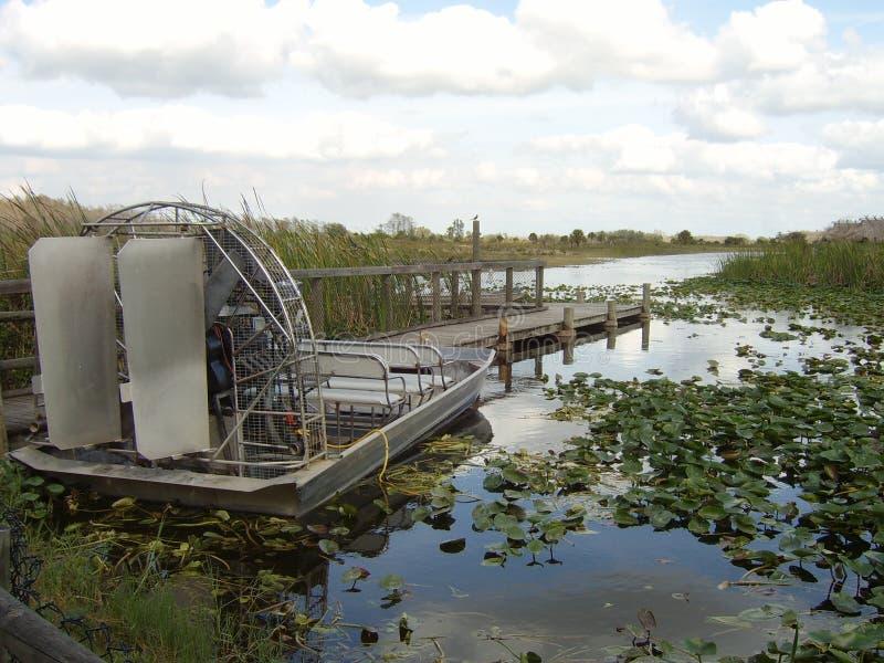 Fanboat a accouplé - des marais de la Floride photo stock