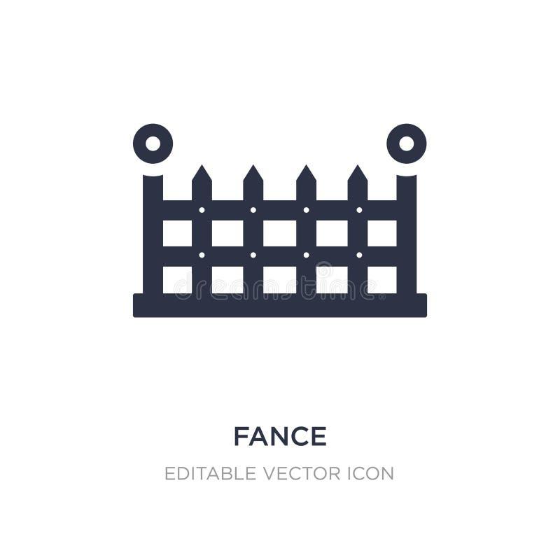 fance Ikone auf weißem Hintergrund Einfache Elementillustration vom Gebäudekonzept vektor abbildung