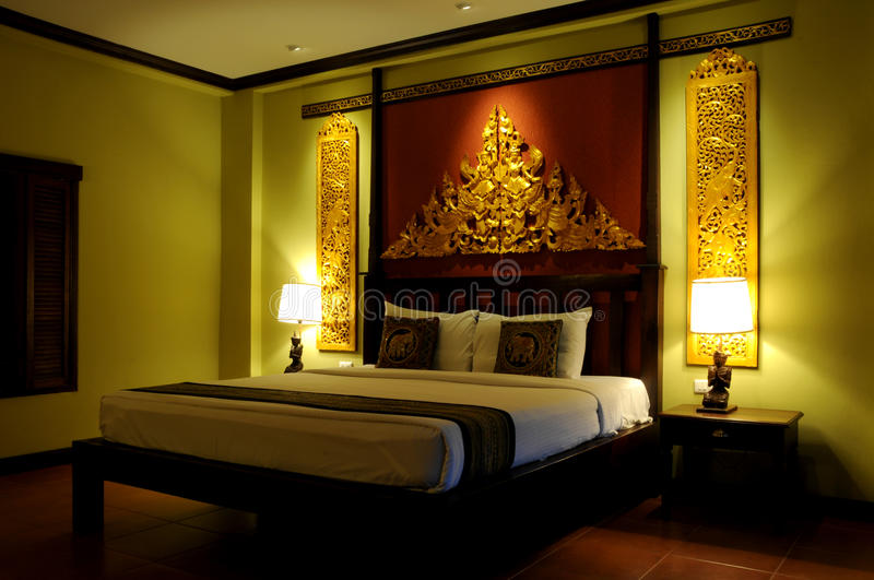 Fancy Asian style bedroom stock photo. Image of furnishings - 10383348