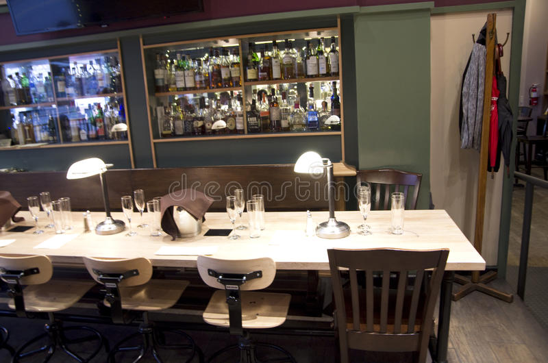 Fancy bar restaurant royalty free stock images