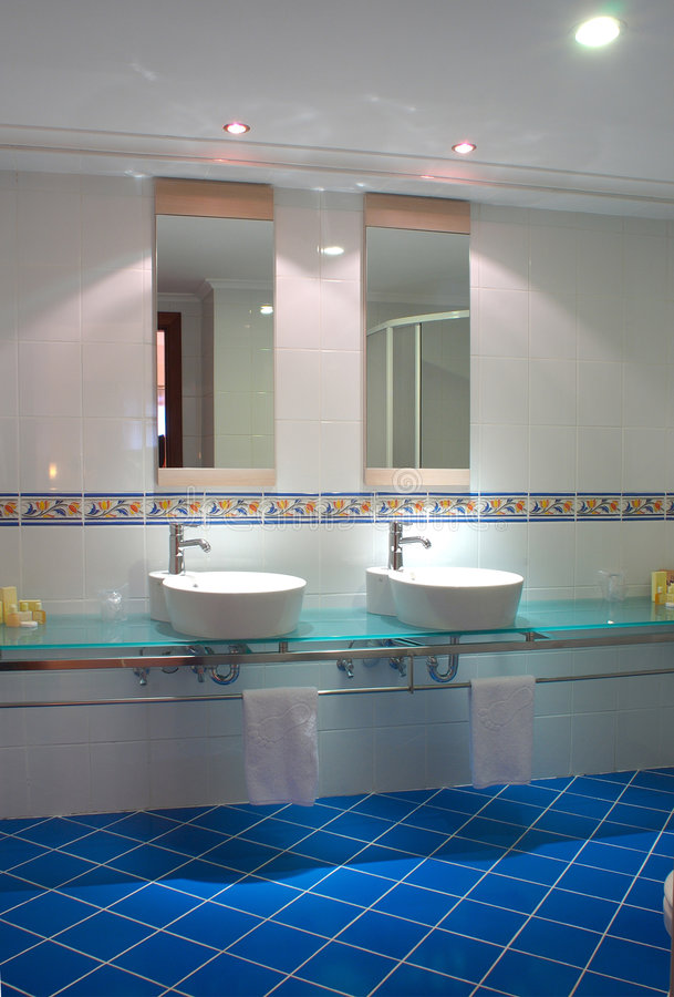 Fancy Bathroom. A photo of a stylistic bathroom