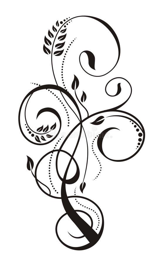 Free Fancy Black On White Design Royalty Free Stock Photo - 11605655