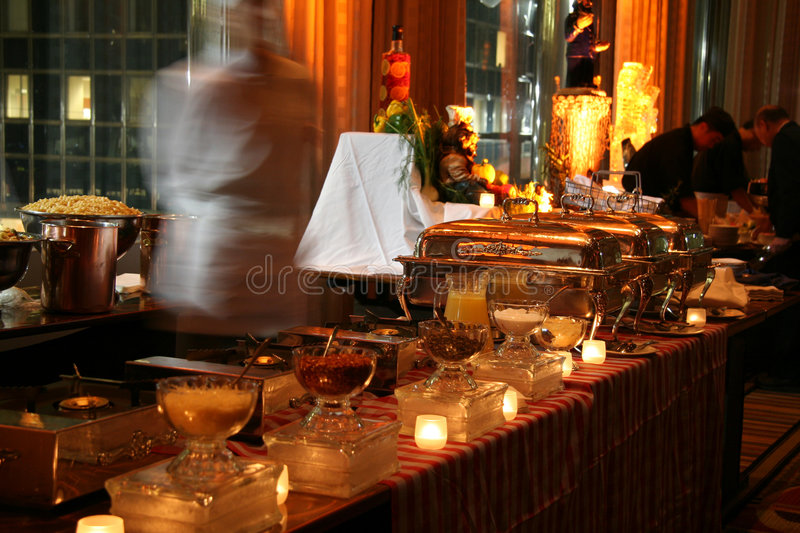 Fancy Buffet Line royalty free stock photos