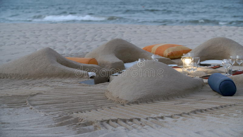 Fancy Chairs And Table Made With Sand At The Beach Stock Footage Video Of Beautiful Enjoy 92726228