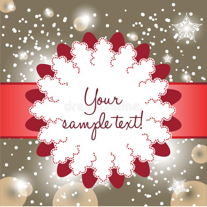 Fancy christmas card vector illustration