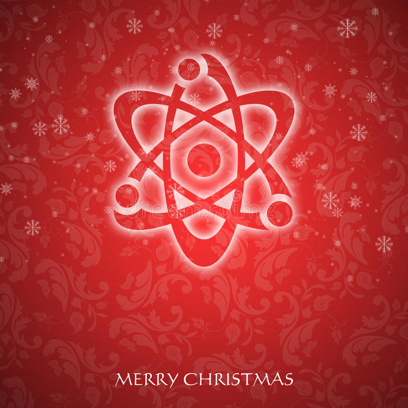 Fancy Christmas card vector illustration