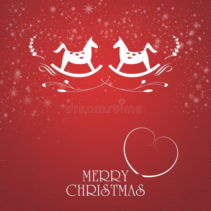 Fancy Christmas card royalty free illustration