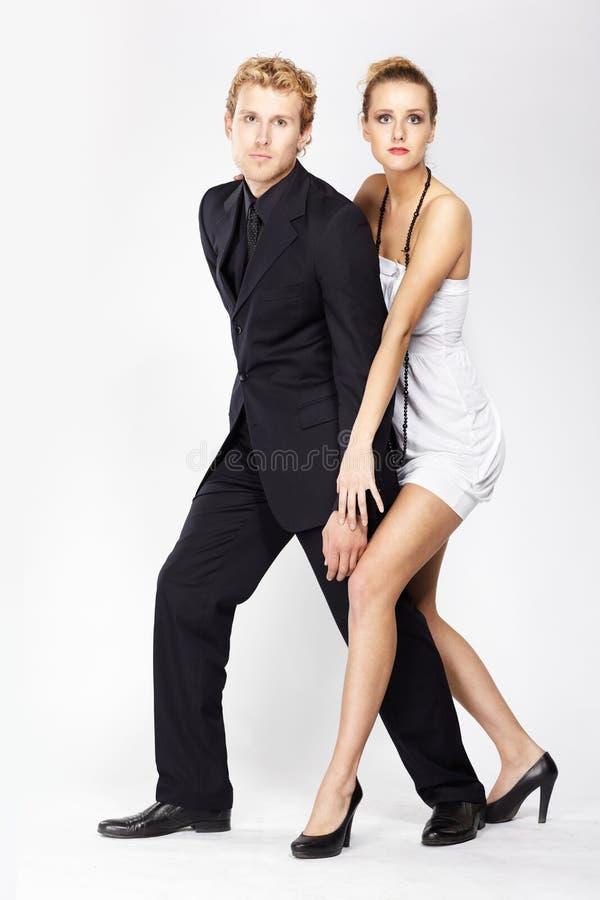 Fancy couple stock image