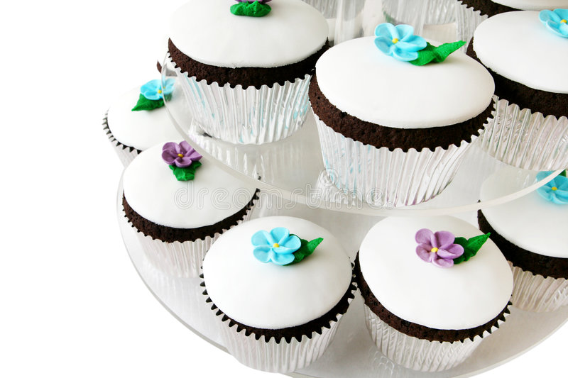Fancy Cup Cakes royalty free stock images