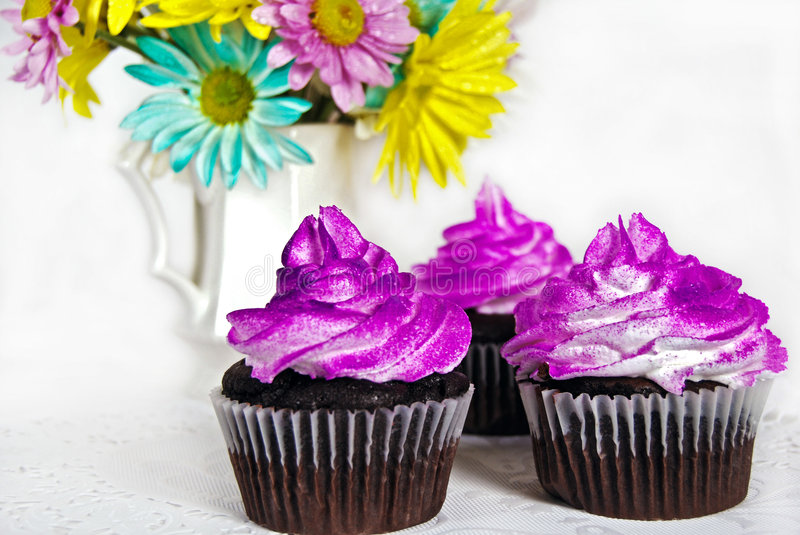 Download Fancy Cupcakes stock photo. Image of floral, daisy, color - 8196892