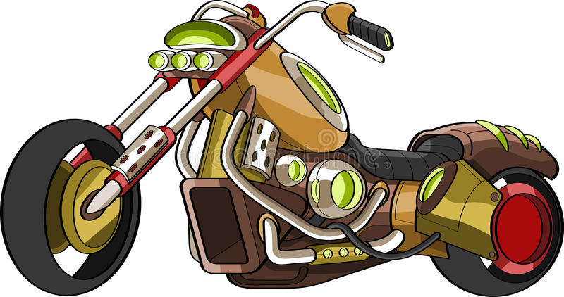 Fancy customised chopper bike vector illustration