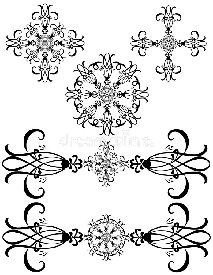 Fancy Detailed Decorations Art Royalty Free Stock Images