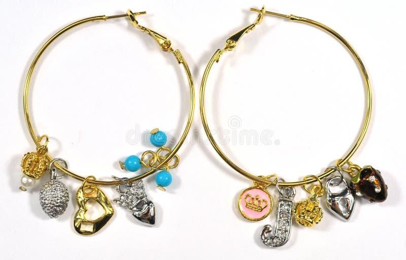 Fancy Earring. Beautiful and fancy earring dangler, funny earbob royalty free stock photo