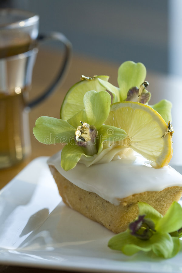 Fancy Financier made with Yuzu, royalty free stock images
