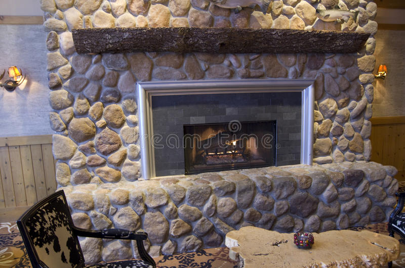 Fancy fireplace royalty free stock photos