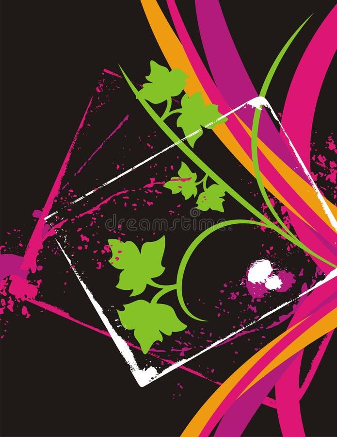 Fancy floral background vector illustration