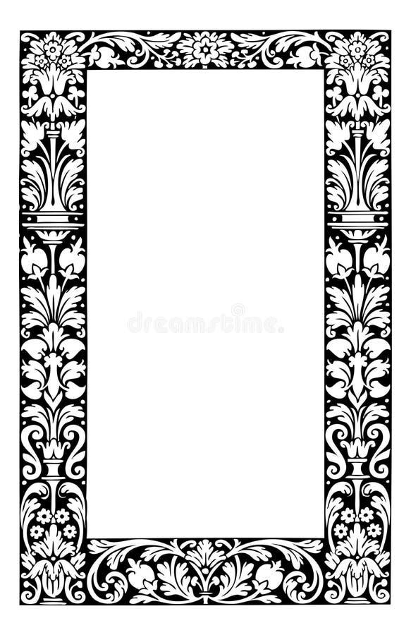 Download Fancy Floral Filagree Frame Vector Illustration Stock Illustration - Image: 12481166