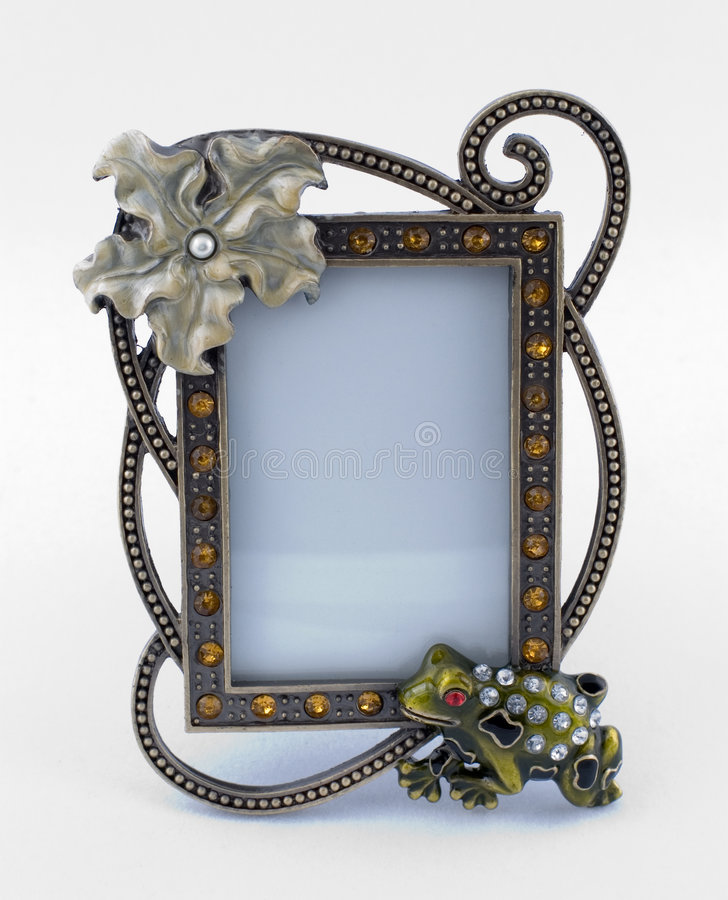 Fancy frame. Small fancy frame with crystals royalty free stock image