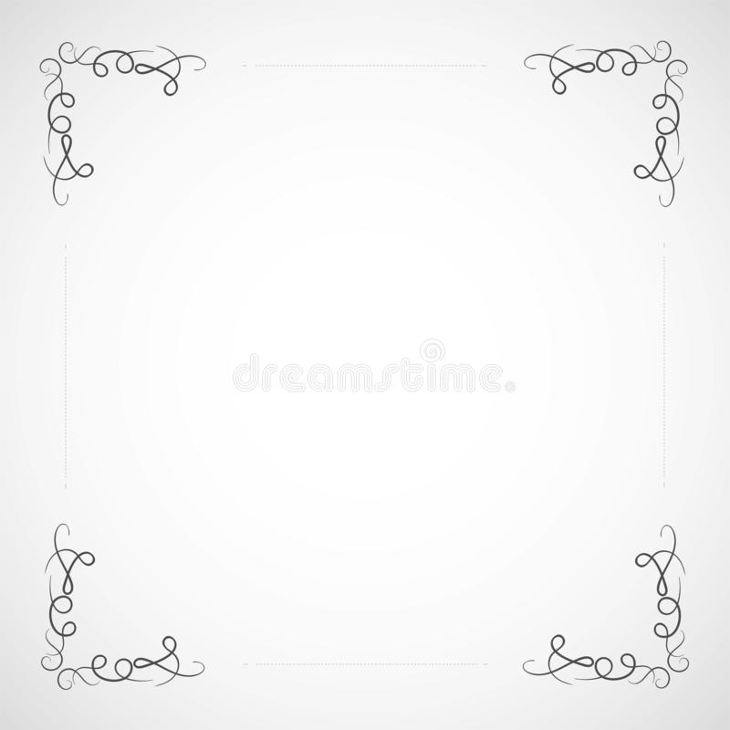 Free Fancy Frame Border With Decorative Ornament. Vector Illustration Stock Images - 135401344