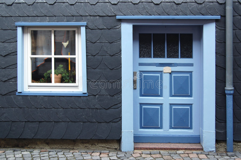 Download Fancy Front Entryway And Beautiful Window Stock Photo - Image: 5961688